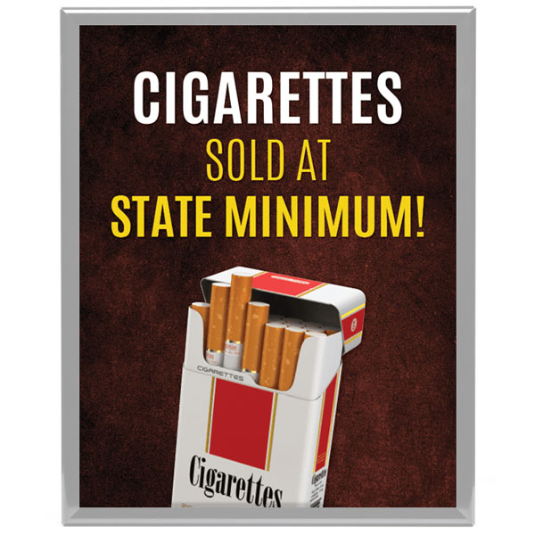 Cigarettes Sold at State Legal Minimum