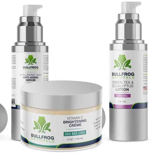Bullfrog CBD Skin Care Products - Whether it's those stubborn skin breakouts or the stress and anxiety showing up on the face, using our CBD products on a regular basis will start showing the positive effects on your skin. However, you must be patient as just like any other natural health supplements, these organic products will also take some consistent usage to show the desired results.